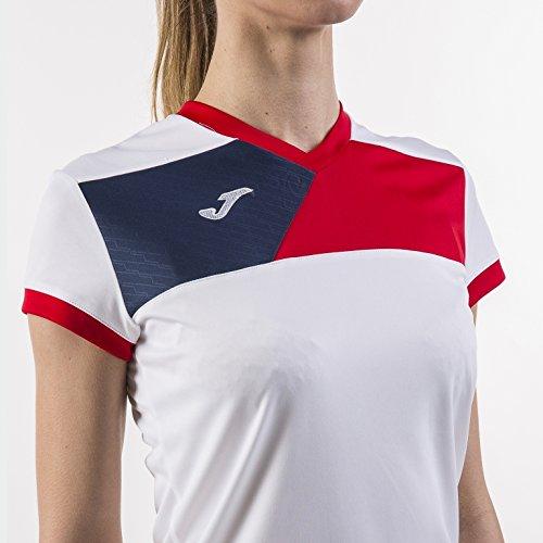 Amazon.com : JOMA T-SHIRT M/C CREW II DONNA BIANCO-ROSSO Uniforms CAMISETAS EQUIP : Sports & Outdoors