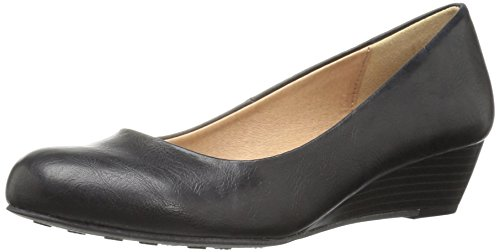 CL by Chinese Laundry Women's Marcie Wedge Pump, Indigo, 6 M US Black Smooth