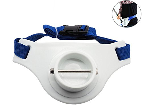ASOCEA Fishing Fighting Waist Belt 2.3 Inch Inner Dia Offshore Tackle Boat Fishing Rod Holder