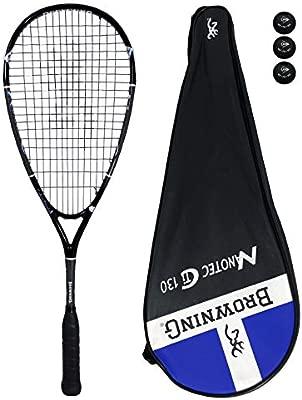 Browning NanoTec Ti 130 raqueta de Squash + unidades pelotas de ...
