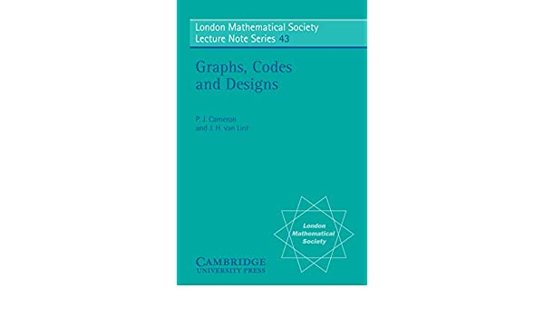 graphs codes and designs cameron p j lint j h van
