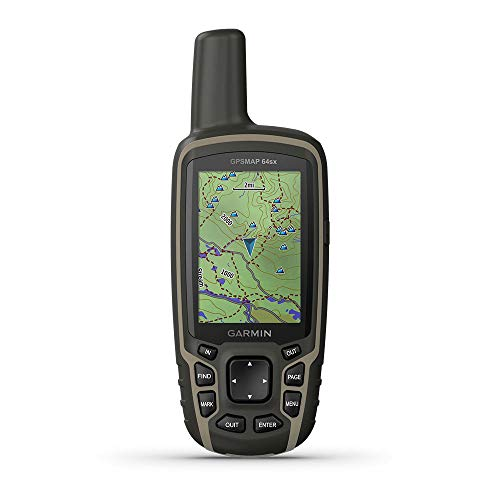 Garmin GPSMAP 64sx, Handheld GPS with Altimeter and Compass, Preloaded with TopoActive Maps