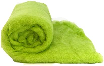 Mini 0.88 oz Heidifeathers Dyed Wool Batts Choose Size and Colour , Green