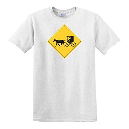 fagraphix Men's Warning Carriage Crossing T-Shirt XXX-Large - Crossing Carriage