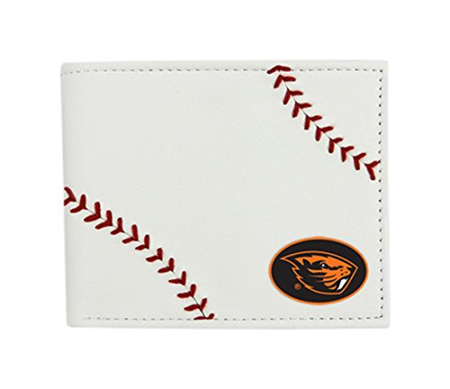 NCAA Oregon State Beavers Leather Wallet, White
