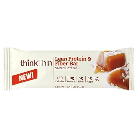 Think Products Lean Protein Fiber Thin Bar, Caramel, 1.41 Ounce: Amazon.es: Salud y cuidado personal