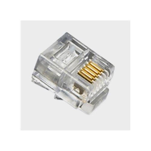 ICC ICC-ICMP6P4CFT Mod Tel Plugs, Flat Strand 6P4C, 100PK 6p4c Mod Plug