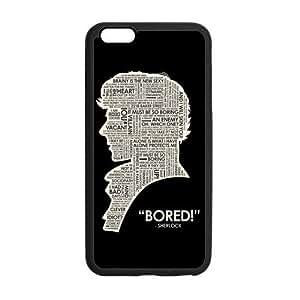 Customize TPU Gel Skin Case Cover for iphone 6+, iphone 6 plus Cover (5.5 inch), Sherlock Holmes Kimberly Kurzendoerfer