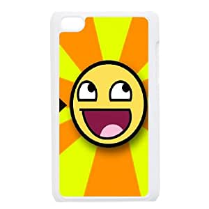 Smiley-face iPod Touch 4 Case White achp