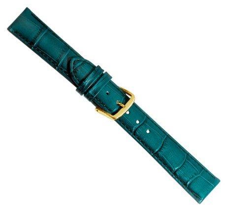 Louisiana Print XL Ersatzband Uhrenarmband Leder Petrol 21905G-XL, Anstoß:12 mm