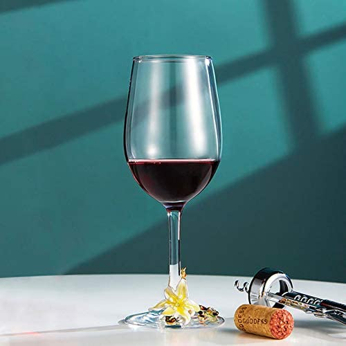 Red Wine Glass Home Lead Free Goblet White Wine Glasses Champagne Glass Cup Foot Lily Pattern For Wine Tasting Wedding Anniversary Party Bar Gift 320ml Yellow Amazon Ca Home Kitchen