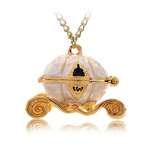 Princess Cinderella Pearly Halloween Pumpkin Carriage Locket (Halloween Carriage)