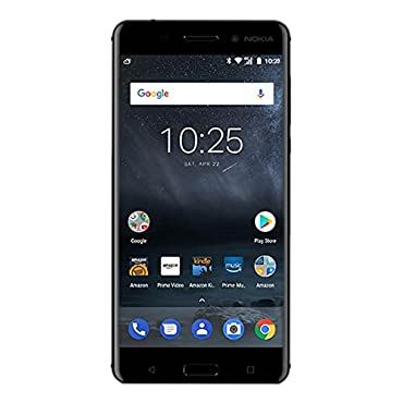 Nokia 6 32 GB Unlocked (AT&T/T-Mobile) Black Prime Exclusive with Lockscreen Offers & Ads