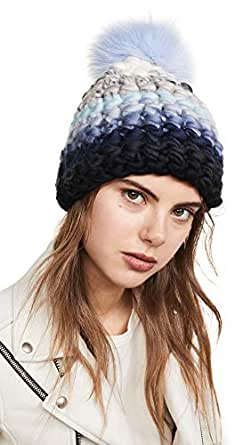 Amazon.com: Mischa Lampert Women's Stripe Beanie Hat, Blue