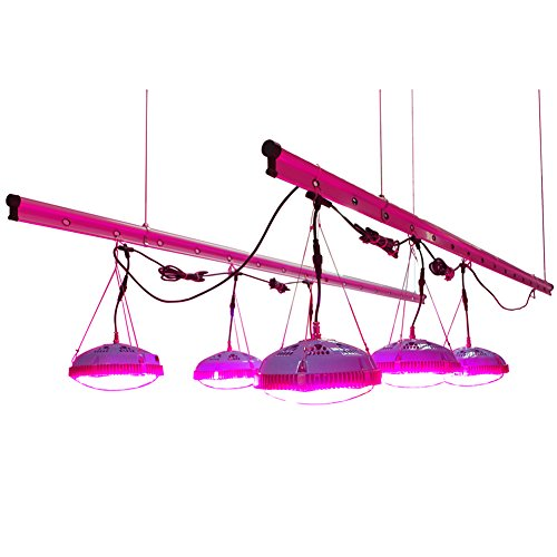 41UyIyrmmCL - GoGrow UFO LED Grow Lights, HPS 400W or T5 8X54W Replacement, 12 Bands Full Spectrum with UV and IR