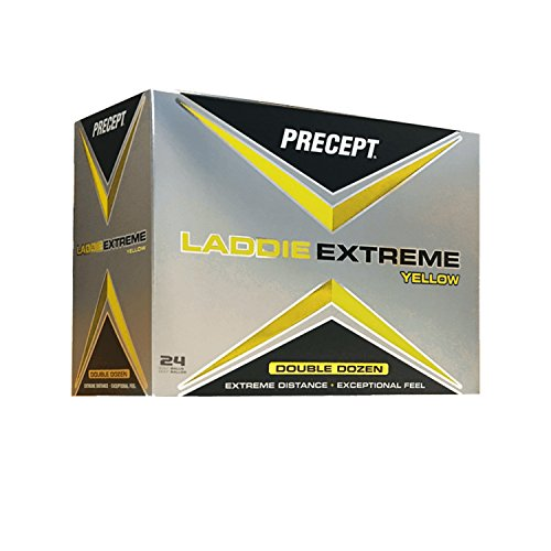 Precept Laddie Extreme 2017 Double Dozen Yellow Golf Balls (2 Ball Golf)