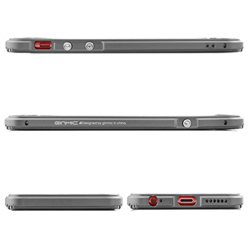 Alienwork Coque pour iPhone 6/6s Anti chocs Case Etuis Housse Aluminium gris AP6S11-05