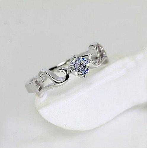 Amelery Sterling Engagement Zirconia Elegant product image