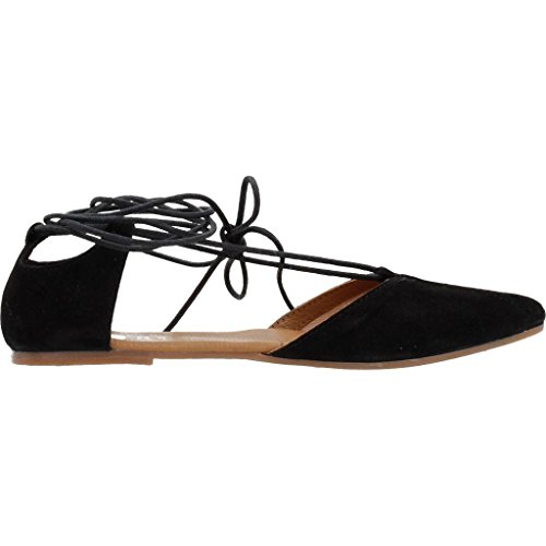 GIOSEPPO open ballerina shoes 39841-02 ALDERETA Black R21Qc
