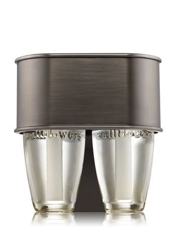 (Bath and Body Works Brushed Faux Nickel Scent Switching Wallflowers Fragrance Duo Plug In Night Light)