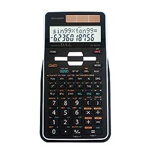 Sharp EL-531TGBBW Engineering/Scientific Calculator, Black