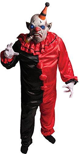 Morbid Enterprises Smokey The Clown Costume Set, Red/Black/Grey/White/Orange,