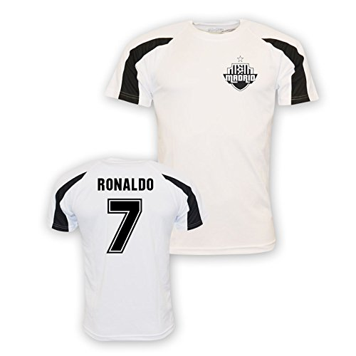 Cristiano Ronaldo Real Madrid Sports Training Jersey (white) Kids B01LRQRGW0 XLB (12-13 Years)|White White XLB (12-13 Years)
