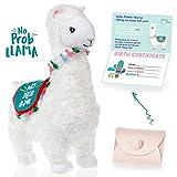 Search : llama stuffed animal - The Original No Prob Llama lama alpaca plush animals toy. Perfect Llama gifts for Baby Showers, Birthdays, Graduation or Christmas. Cute, Fun, Super Soft, and Pre Gift Wrapped!