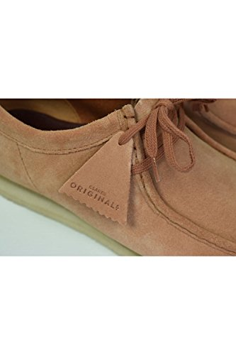 Clarks Originals Wallabee Uomini Derby Stringate Brogue In Pietra Arenaria