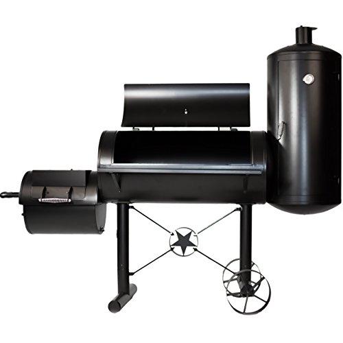 Premium BBQ Grill Smoker Räucherofen Grilllok Garen XXL 212 x 172 x 80 cm, 105 kg, Transporträder, Temperaturanzeige…