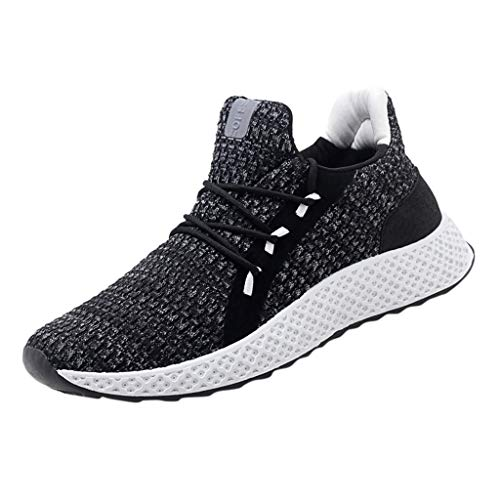 (Sneakers for Men Lightweight Running Shoes Fashion Hand-Woven Breathable Sneakers Slip-On Comfortable Hiking Shoe Red)