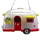 Big Mo's Toys Birdhouse Ornament - White Vintage Bird House RV Trailer Decorations for Tree