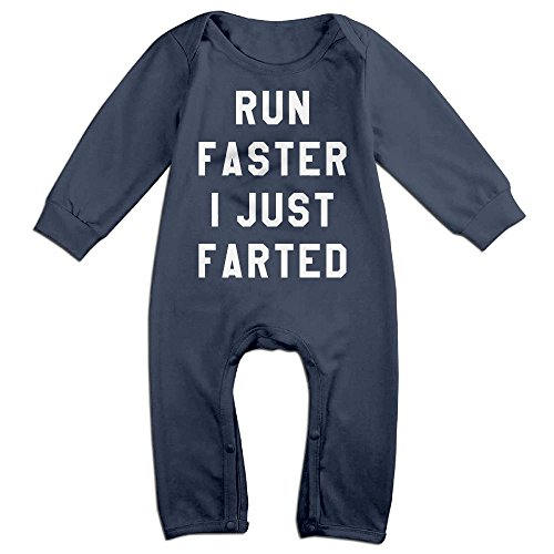 Baby Satan Costume (Baby Infant Romper Get Behind Me Satan I Just Farted Long Sleeve Jumpsuit Costume Navy 6)