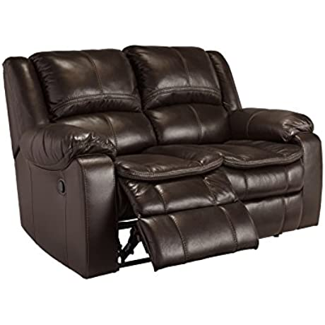 Signature Design By Ashley 8890574 Long Knight Collection Power Reclining Loveseat Brown