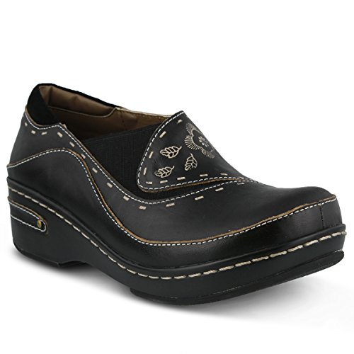 L'artiste by Spring Step Women's Burbank Mule, Black, 40 EU/9 M US by Spring Step
