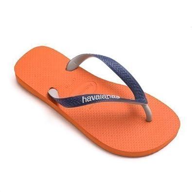 b6e5436051bf Havaianas Top Mix Orange Navy Blue Strap Flip Flops Thongs Unisex Size  Brazil Beach  Amazon.co.uk  Shoes   Bags
