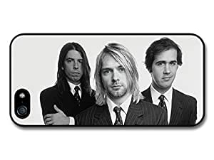 Nirvana Band Black & White Kurt Cobain Case For Iphone 5/5S Cover A3676