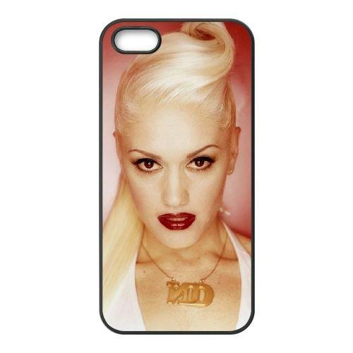 Gwen Stefani 004 coque iPhone 5 5S cellulaire cas coque de téléphone cas téléphone cellulaire noir couvercle EOKXLLNCD24169