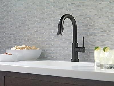 Delta Faucet Trinsic Single-Handle Bar-Prep Kitchen Sink Faucet