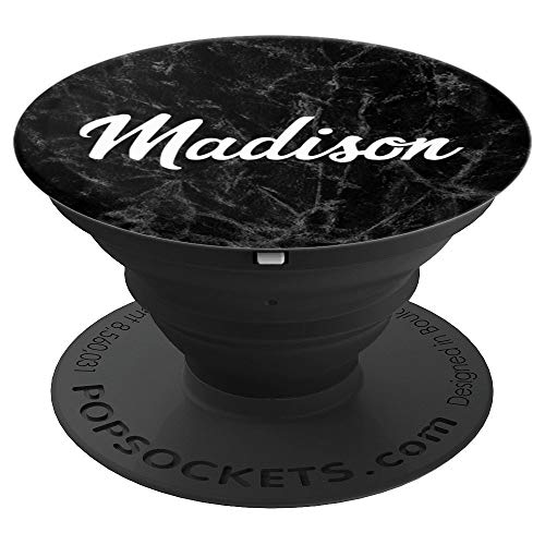 Name Madison Gift Idea Grip for Madison Girl Birthday - PopSockets Grip and Stand for Phones and Tablets ()