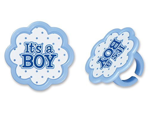 DecoPac It's A Boy Cupcake Rings (12 Count)