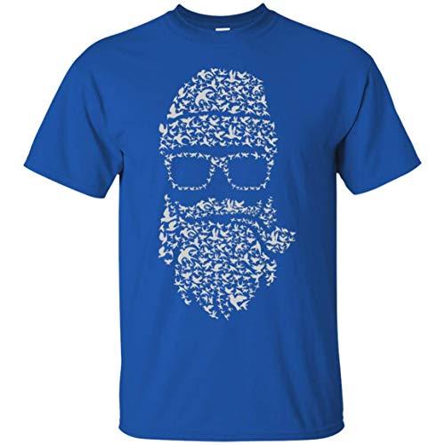 KID ANGELES Halloween Costume Birds Beard T-Shirt in 10 Colors | for Men Women Royal / 4XL -