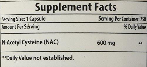 Best Naturals NAC N Acetyl Cysteine 600 mg 250 Capsules