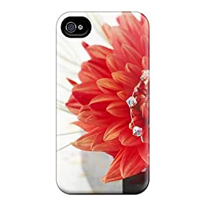 New Premium Flip Case Cover Romantic Rose Skin Case For Iphone 4/4s