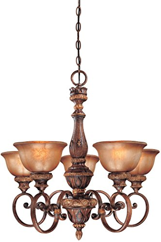 Minka Lavery 1355-177, Illuminati, 5 Light Chandelier, Illuminati Bronze
