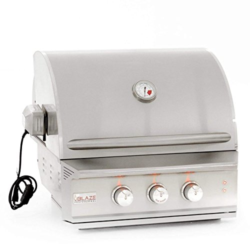 27 Inch Built In Grill - Blaze 27-inch Professional 2-Burner Grill with Rear Infrared Burner (BLZ-2PRO-LP), Built-In, Propane Gas