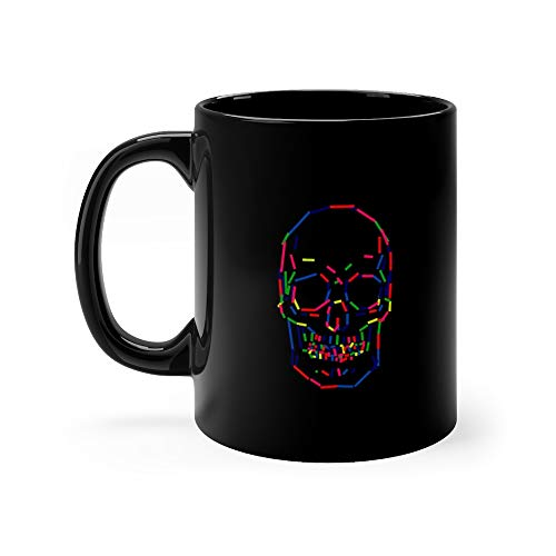 Abstract Colorful Human Skull Turkey Tees Milk Mug 11Oz Ceramic