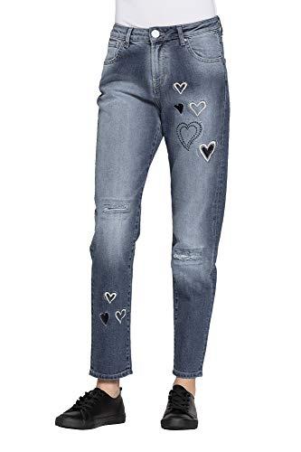 Bordados Jeans Carrera Con 46 Mujer Extensible Es Para Tejido HSwpH