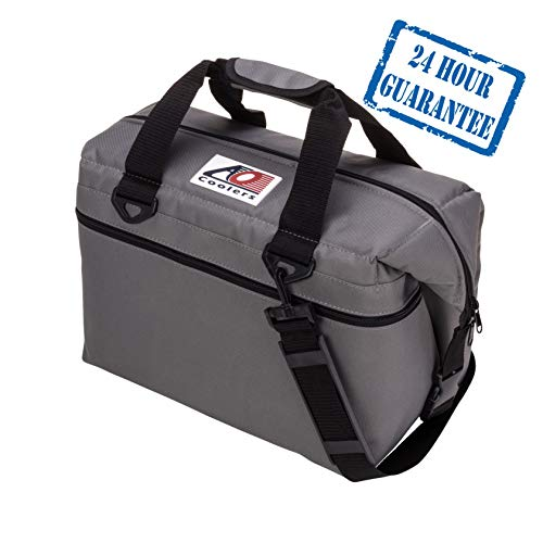 AO Coolers Canvas Soft Cooler with High-Density Insulation, Charcoal, 24-Can