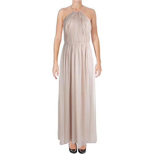 Vera Wang Womens Chiffon Shimmer Evening Dress Pink 2